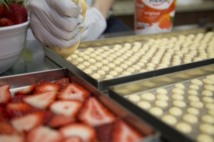 yogurt drops being made