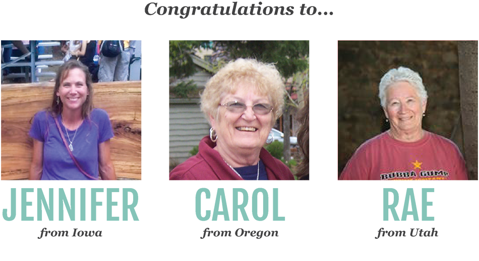 Congratulations to the three lucky winners of our recent Harvest Right contest. Jennifer from Iowa, Carol from Oregon, and Rae from Utah all won $2000 off of a Harvest Right home freeze dryer.