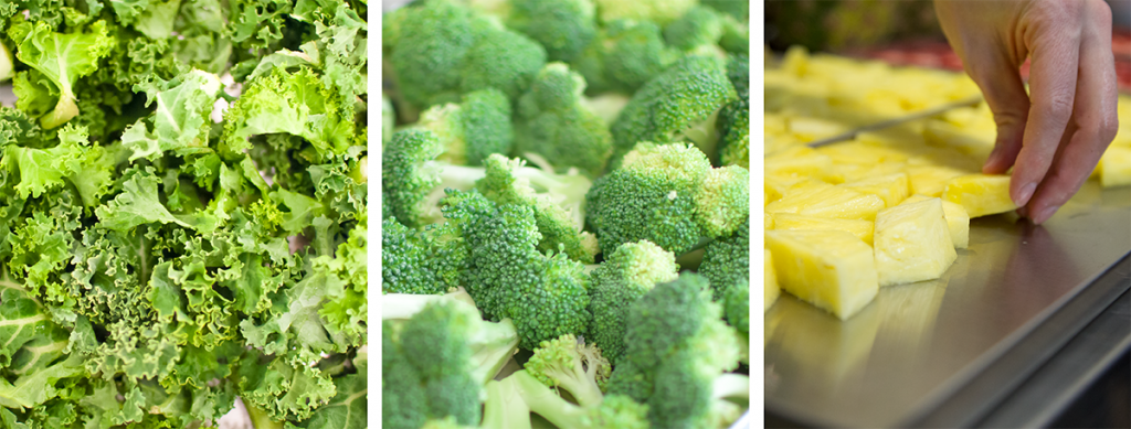 Kale, Broccoli, Pineapple