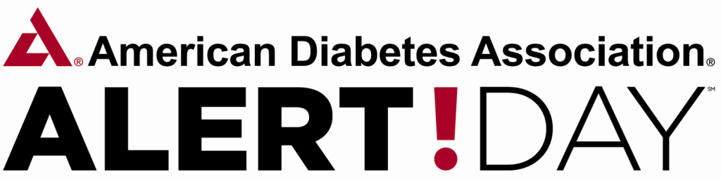 Logo with the text: American Diabetes Association, ALERT! DAY