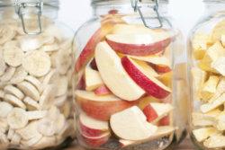 freeze dried fruit in jars