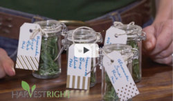 video thumbnail of labels jars of freeze dried herbs