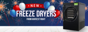 a black freeze dryer, captioned: New freeze dryers from Harvest Right