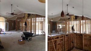 interior of a home being repaired