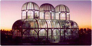 a large decorative greenhouse