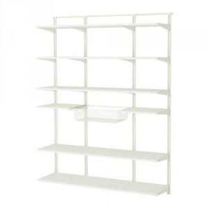 algot wall upright shelf and basket white