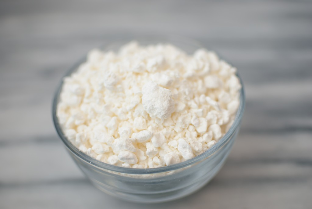 freeze dried cottage cheese in a bowl