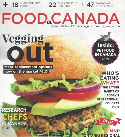 Food in Canada magazine cover