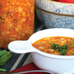 soup in a jar and in a bowl