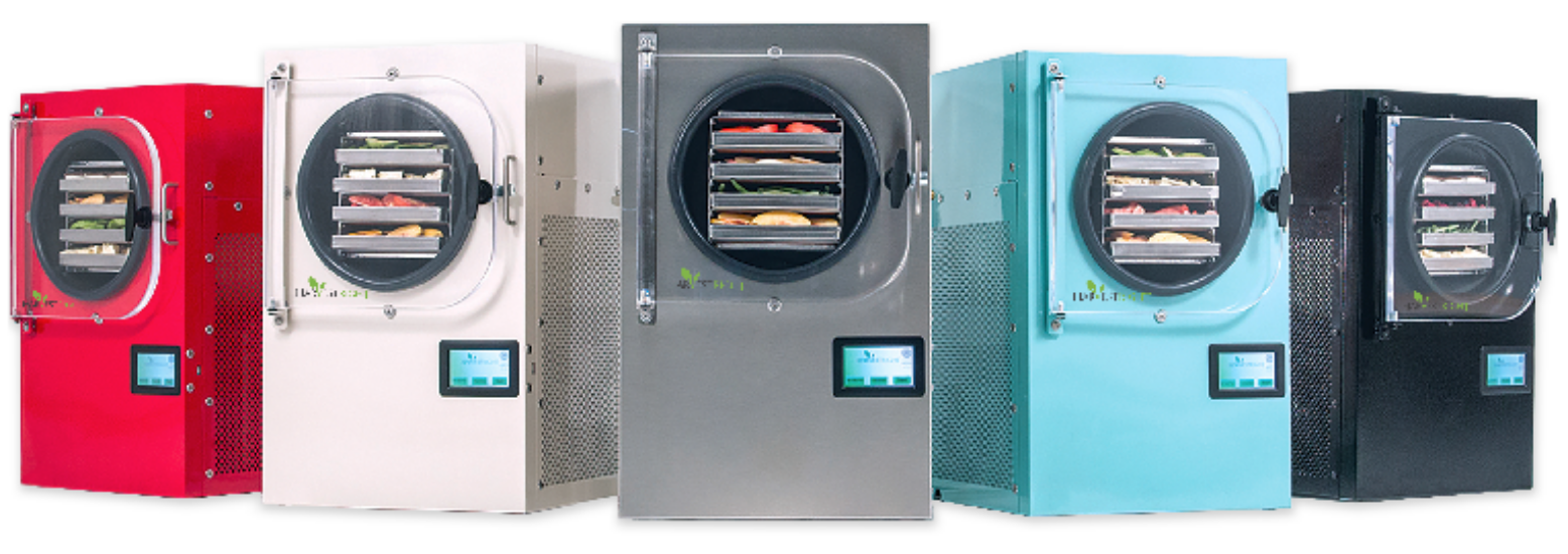 Line up of freeze dryers