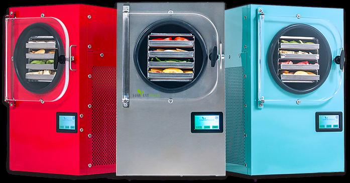 Three freeze dryers