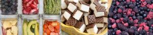 freeze dried food in jars, freeze dried ice cream sandwiches, freeze dried berries