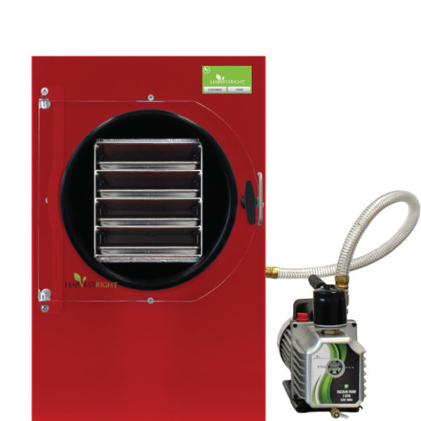 red freeze dryer and oil pump