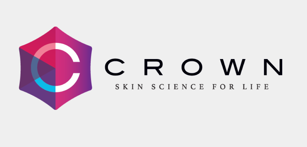 logo for Crown with subtext: Skin science for life