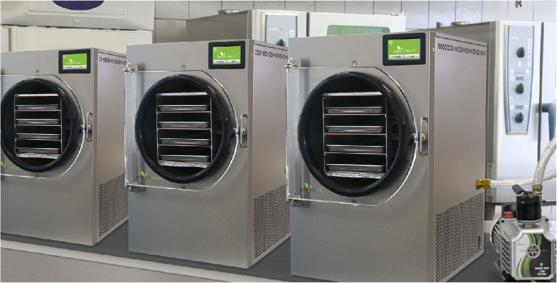 freeze dryers lined up