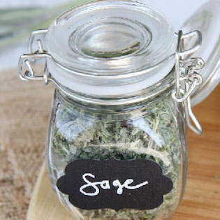jar of freeze dried sage