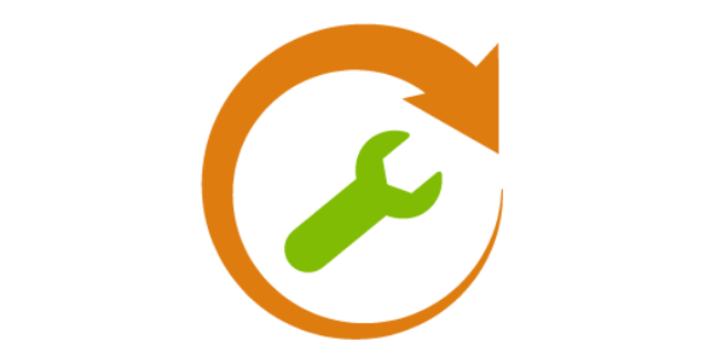 icon of a wrench with a circle arrow around it