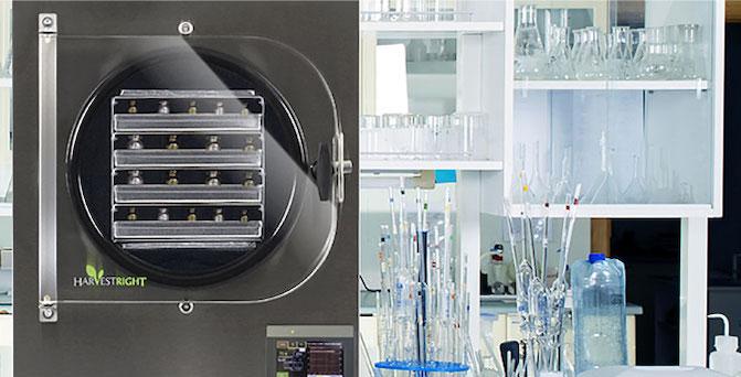 a scientific freeze drier in a lab