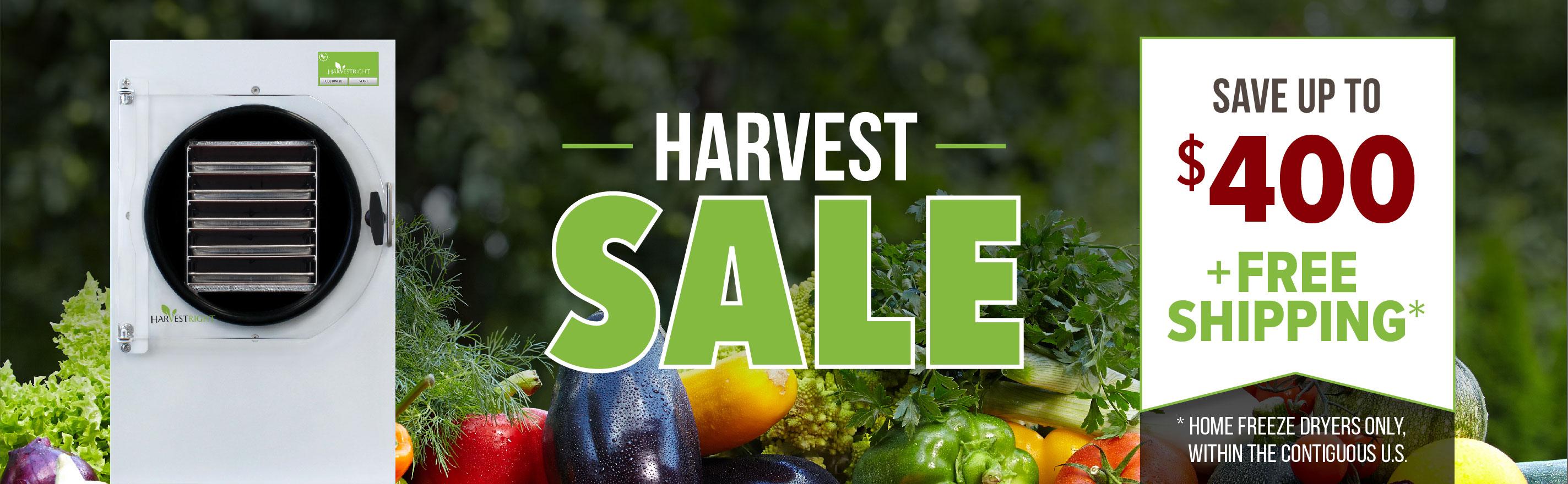 Harvest Sale_Save up to $400_desktop